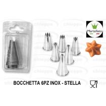 BOCCHETTA 6PZ STELLA INOX48181