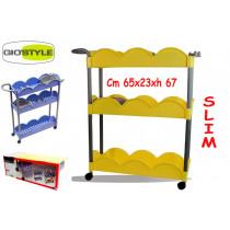 CARRELLO SLIM GIALL.65X23X67$*