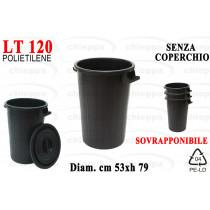 BIDONE LT120 S/COP SOVRA.NERO