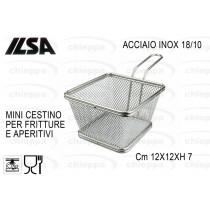 CESTO FRITTURA 12X12 INOX 2481