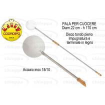 PALA PIZZA 22 TONDA INOX 90/22