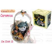 CESTO DECORATO   CANE D/6564$*