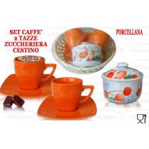CAFFE'2PZ C/P+ZUCCHER.+CESTO *