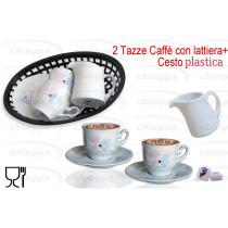 CAFFE'2PZ C/P+LATTIERA+VASSOI*