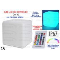 LAMPADA 30CM CUBO LED  100004*