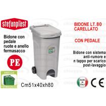 BIDONE L80 C/COP+PED GRI.25603