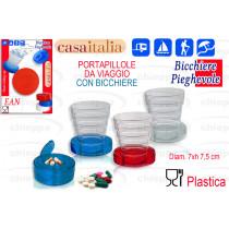 BICCHIERE PLAST.PIEGH. C113090